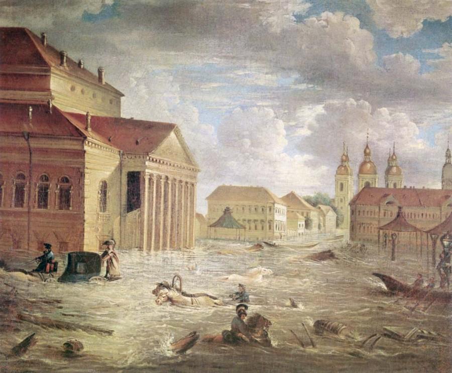 Настоящая причина наводнения 1824 года в С.-Петербурге.