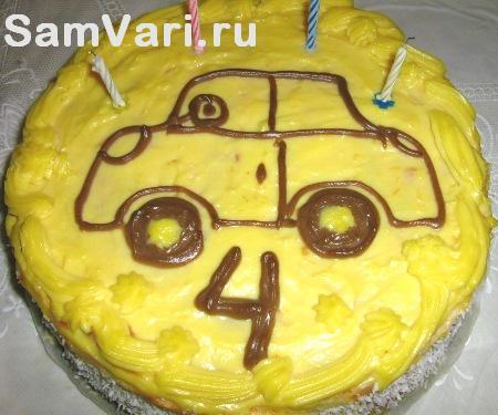 торт для ребенка Машинка