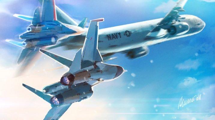 ВВС США у границ РФ: появилось видео, как Су-27 прогнал P-8A Poseidon в небе над Балтийским морем