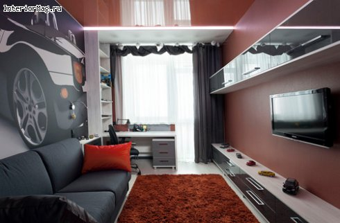 лофт  стиле ремонт 9 метров комнаты кв. в