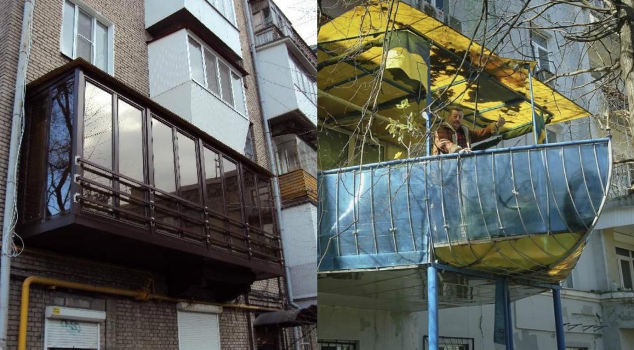 Полёт дизайнерской фантазии! оригинальные балконы для настоя.