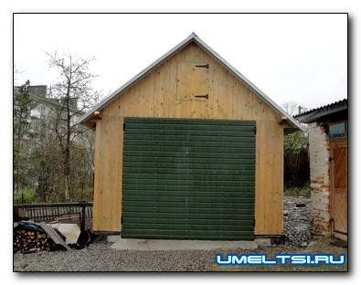 Постройка каркасного гаража