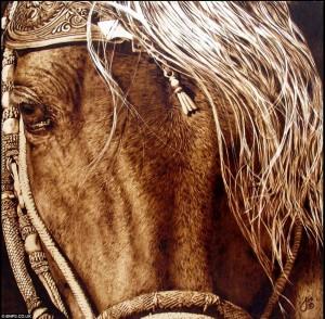 Julie Bender 7 300x294 Потрясающие картины, выжженные на кленовых дощечках