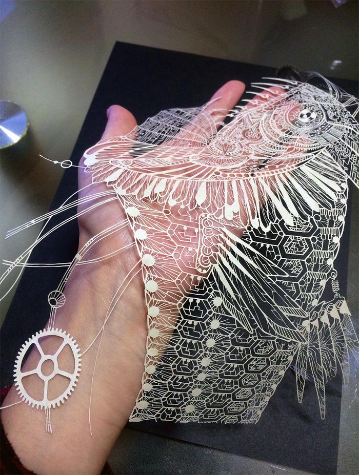 Кири (kirie) - японское традиционное искусство вырезания из бумаги Искусство, Кири, Япония, Красота, Бумага, Снежинка, Длиннопост