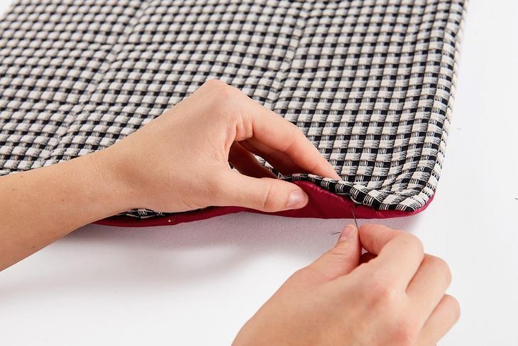 Стёганый шарф-палантин своими руками