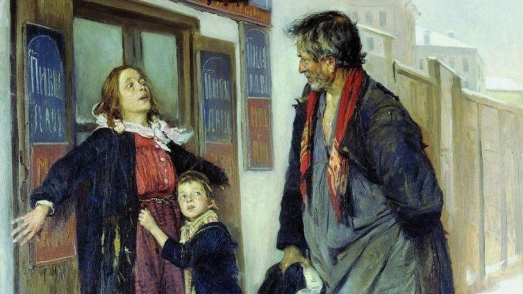 В. Е. Маковский, «Не пущу!», 1892 г.
