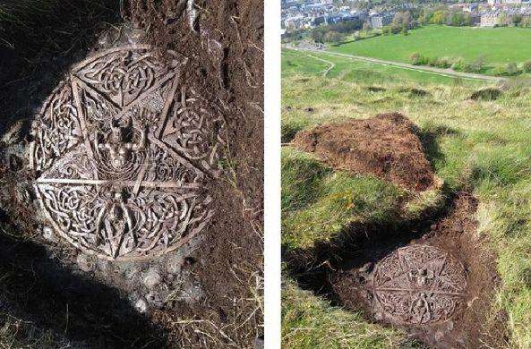 В Эдинбурге нашли загадочный языческий алтарь
