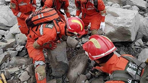 Оползень вКитае: Шансов найти живых почти неосталось