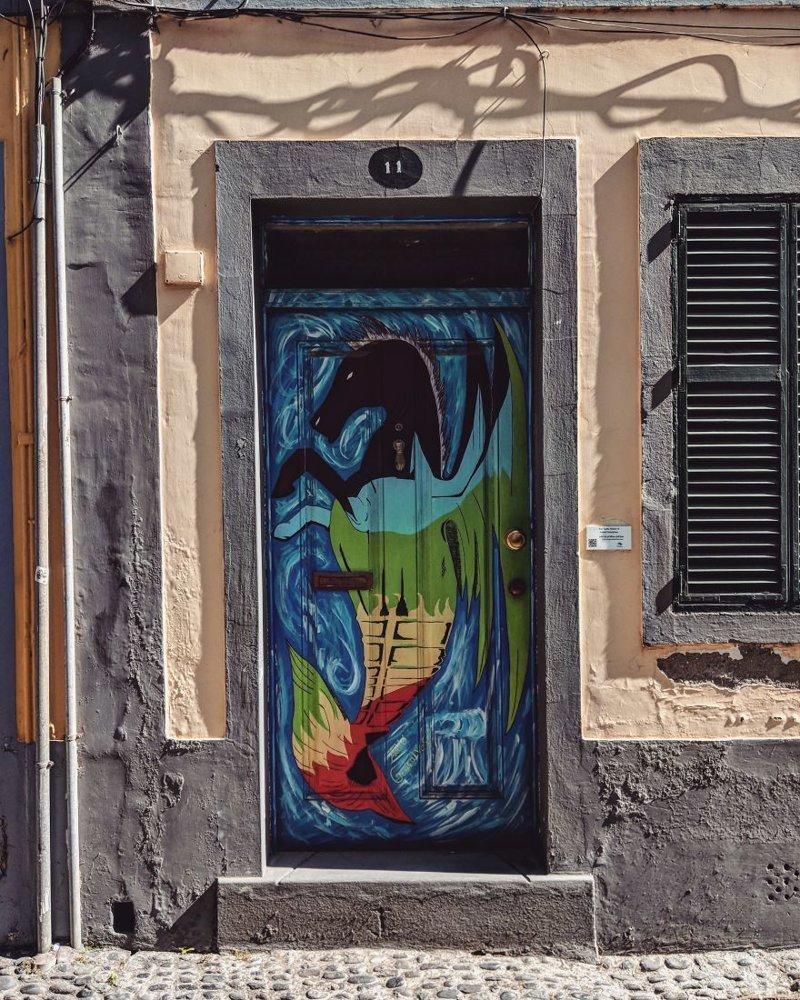 28. дверь, картина, мадейра, португалия, путешествие, фотография, фотомир