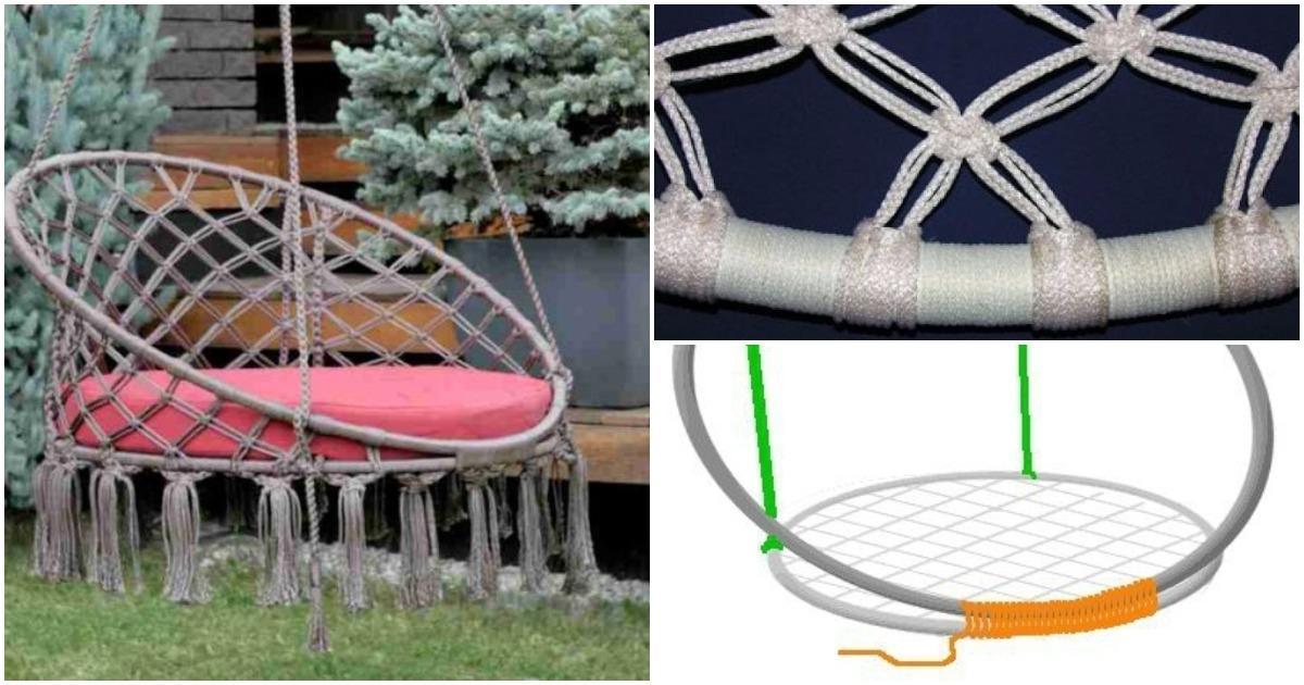 Из шнура и труб можно сделать полезную вещицу для сада