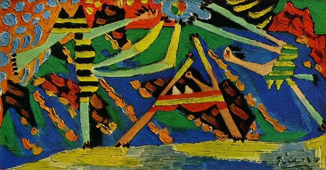 Пабло Пикассо. Купальщицы  с мячом 4. 1928 год
