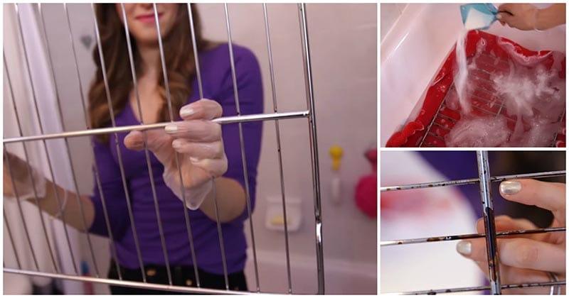 Быстрый и простой способ очистить решётку для духовки