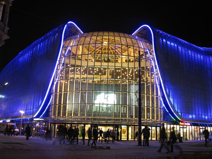 Торговая галерея Silesia City Center в Катовице: ночной кадр