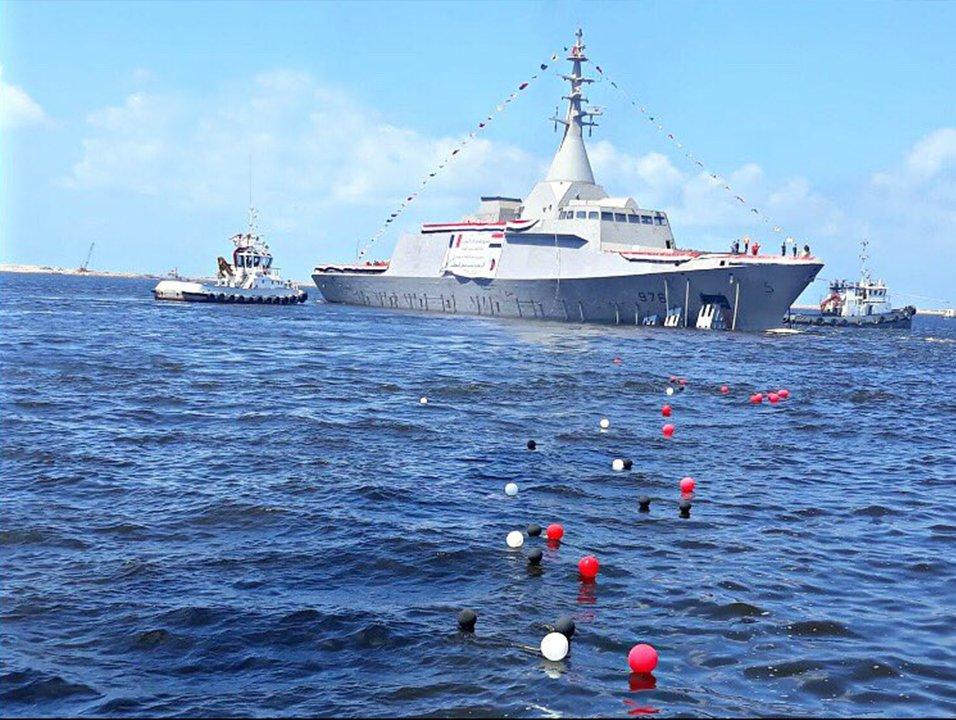 Спущен на воду первый построенный в Египте корвет типа Gowind