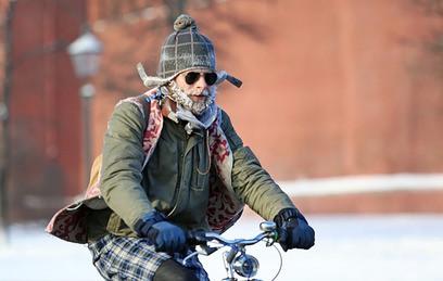 В Москве стартовал зимний велопарад