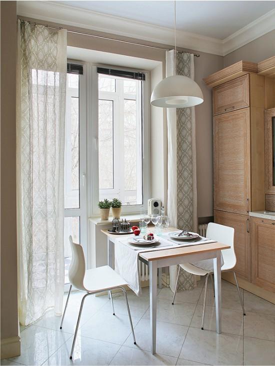 Обеденная зона на маленькой кухне