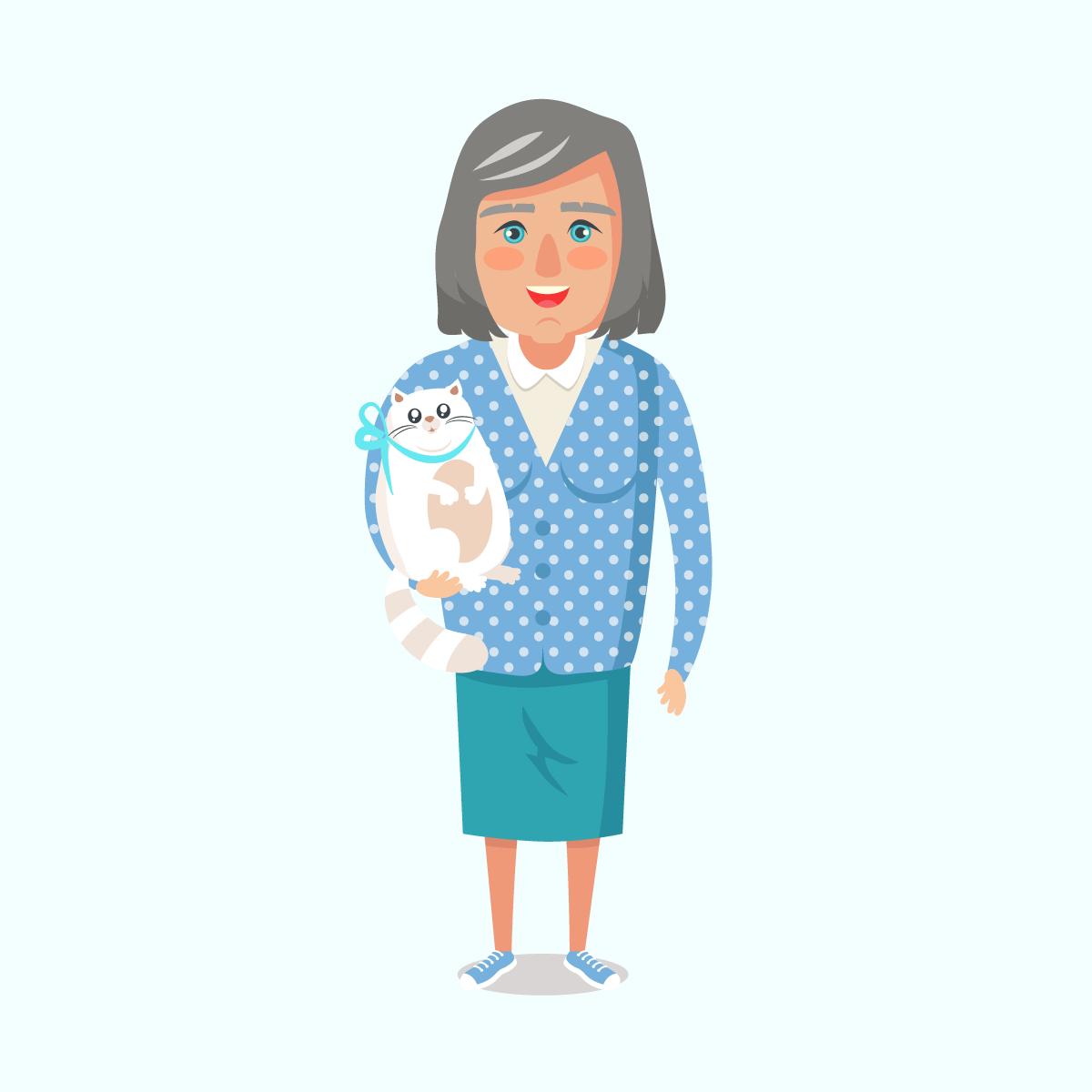 Анекдот про даму, мечтавшую, чтобы её кот заговорил