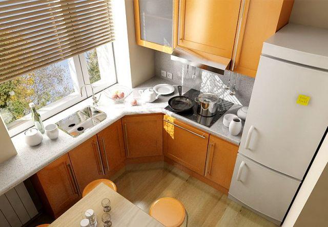 интерьер для маленькой кухни 6 метров фото