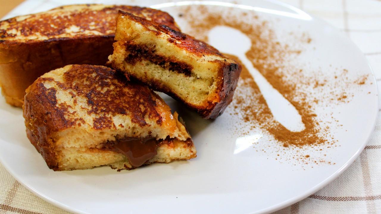 Французские тосты с начинкой