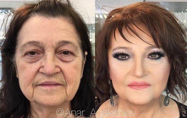 Стилист из Азербайджана возвращает бабушкам молодость Анар Агакишиев, азербайджан, баку, вернуть молодость, искусство, макияж, преображение, стилист