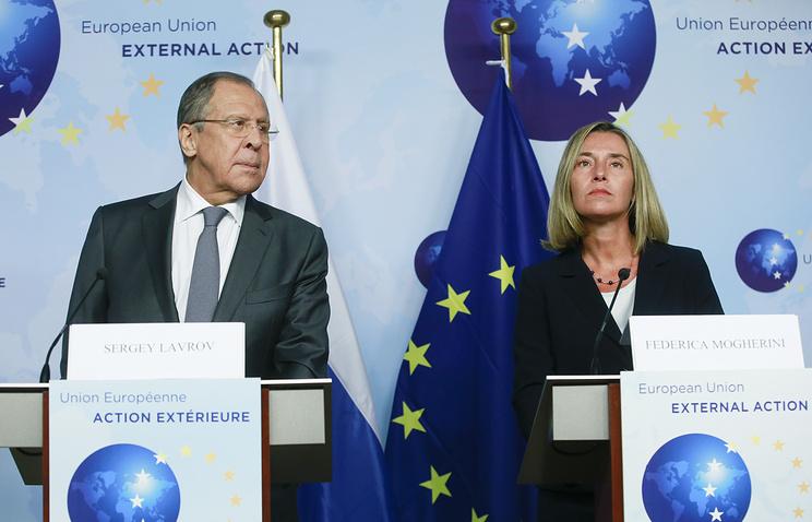 Ф. Могерини: в ЕС ждали визита Лаврова уже очень давно.