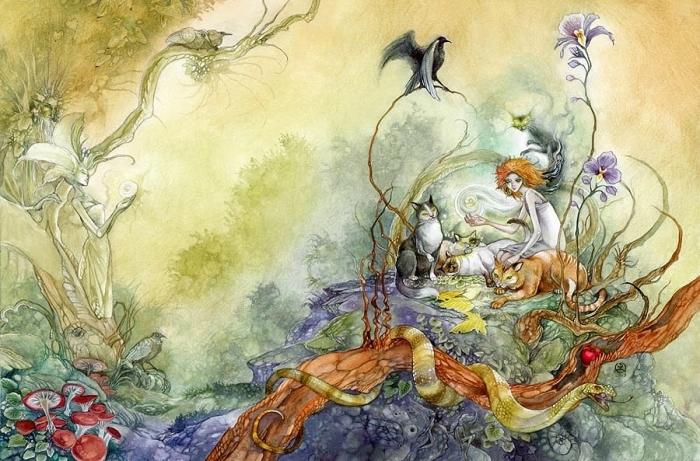 Фэнтезийные рисунки окутанные таинственно-магической атмосферой