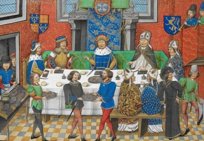 Джон Гонт 1й герцог Ланкастер обедает с королем Португалии конец XV века Фото commonswikimediaorg