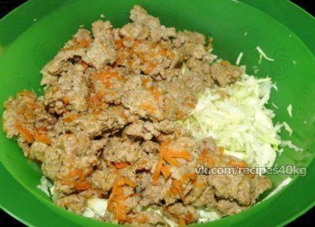 Запеканка из капусты с мясом «Сытная долина»