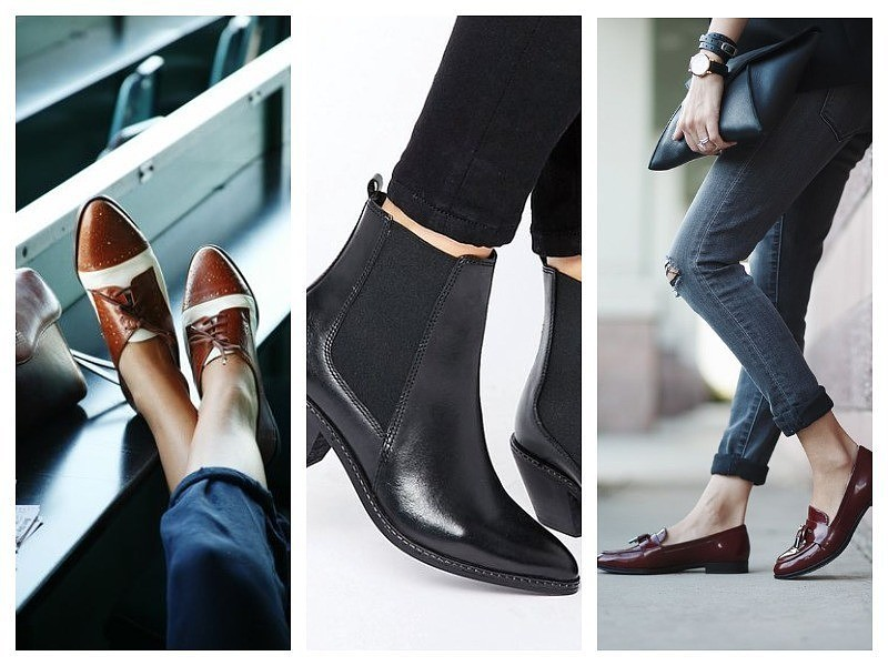 Как подчеркнуть женственность с помощью мужской обуви