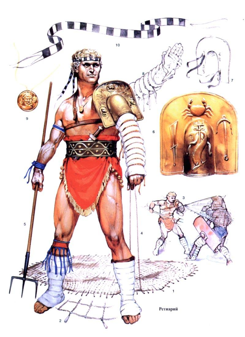 Гладиаторы Древнего Рима