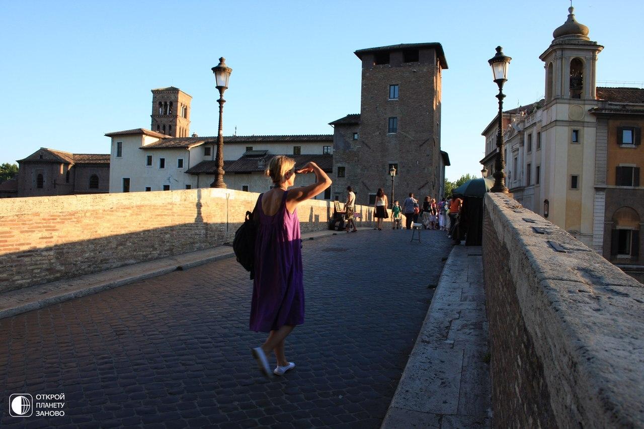 Самый древний мост Рима - мост Фабричо
