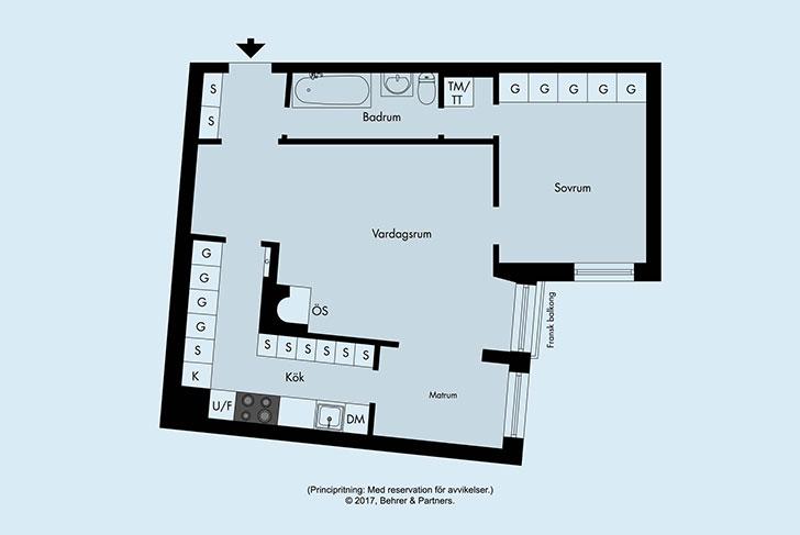 Настроение осени в интерьере квартиры (70 кв. м)