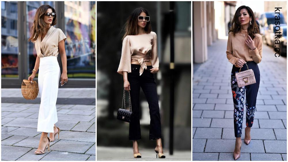Как и с чем носить нюдовые блузки и рубашки: 10 сногсшибательных идей
