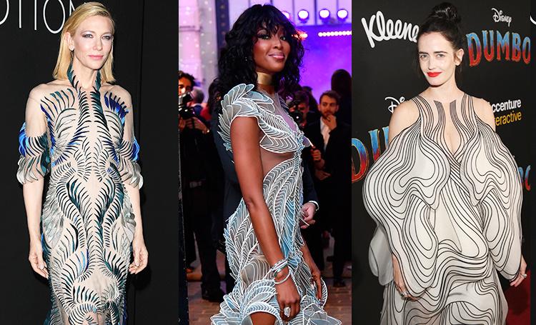 Платья, напечатанные на 3D-принтере: Ева Грин, Наоми Кэмпбелл и другие звезды, которые поддержали новый тренд