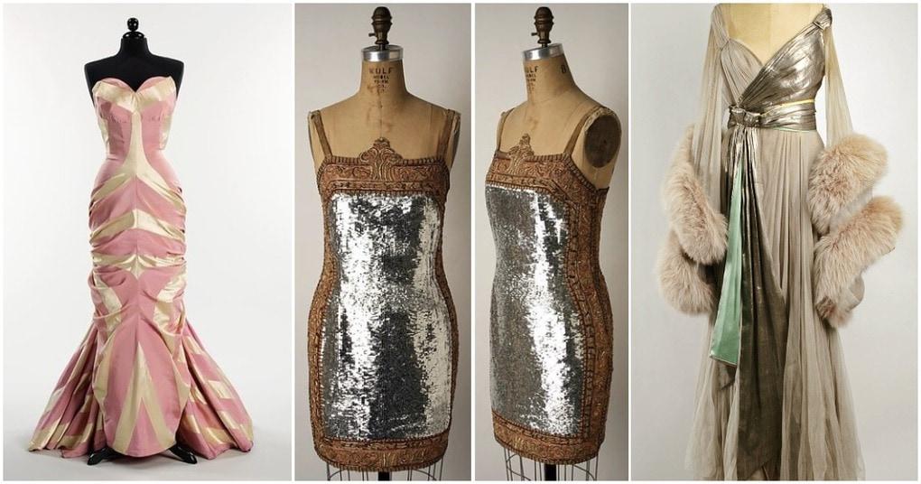 Платья, которые выбирали модницы прошлого века для празднования Нового Года