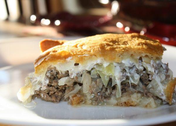 Прекрасный ужин в конце рабочего дня — ленивая капустная запеканка с мясом!
