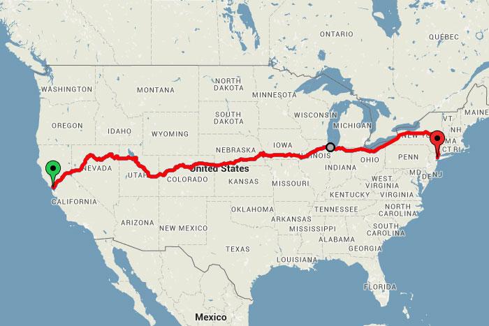 Необыкновенное путешествие на поезде через всю Америку