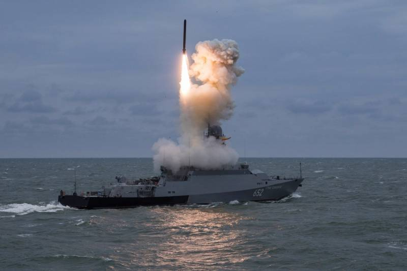 Учения корабельных группировок Каспийской флотилии с пусками «Калибров»