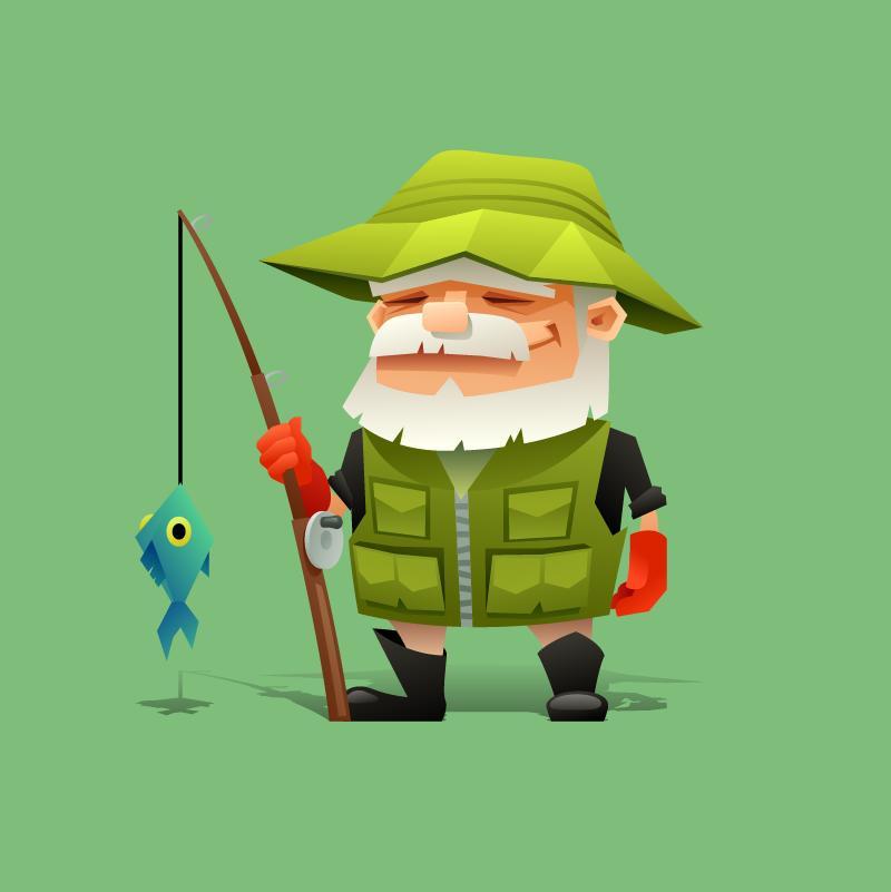 Анекдот про то, как рыбак пытался новую приманку достать