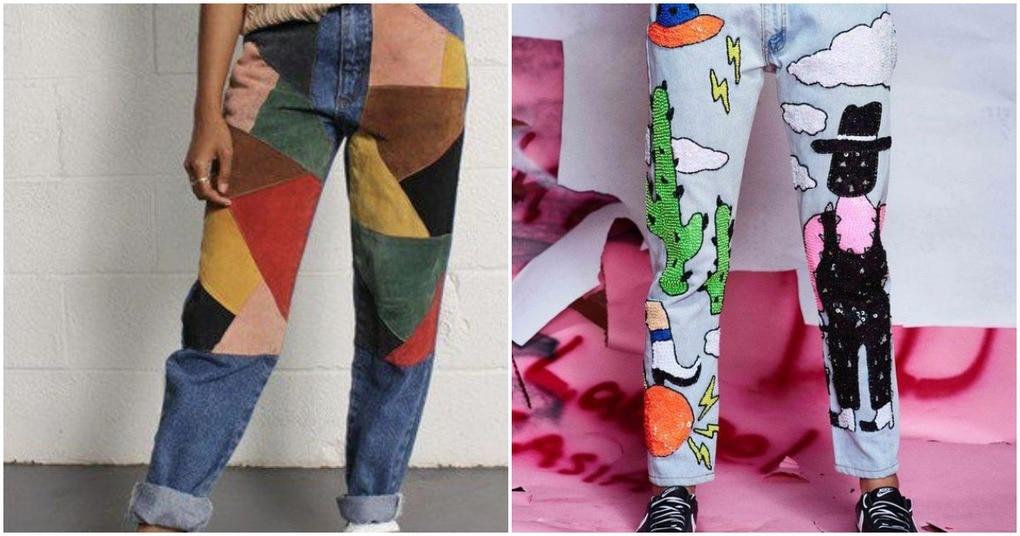 Стильные идеи модных джинсов с заплатками