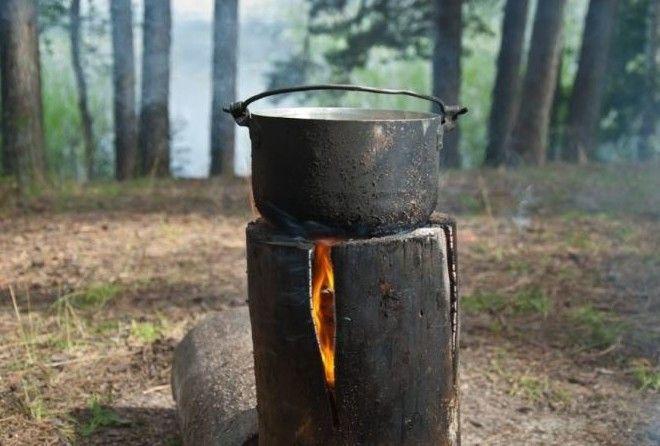 Как развести финскую свечу, которой не страшны ни дождь, ни снег, ни ветер