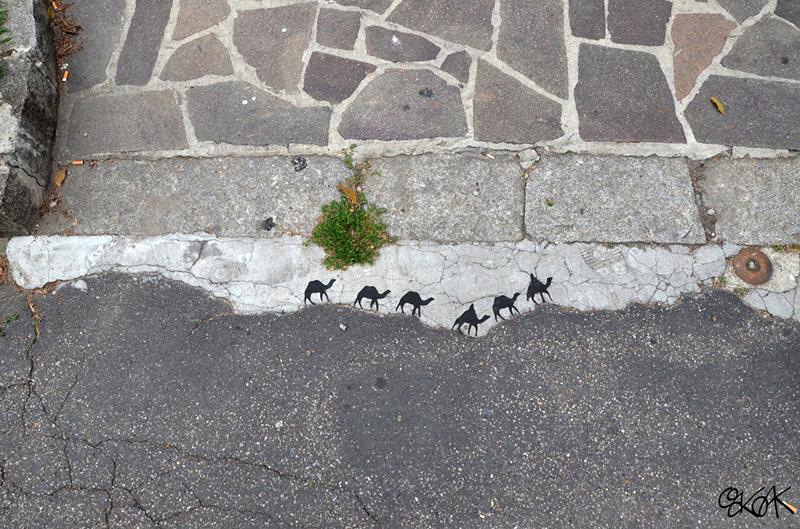 Бетонный караван вандализм, граффити, инсталляция, искусство, мир, творчество, улица, художник