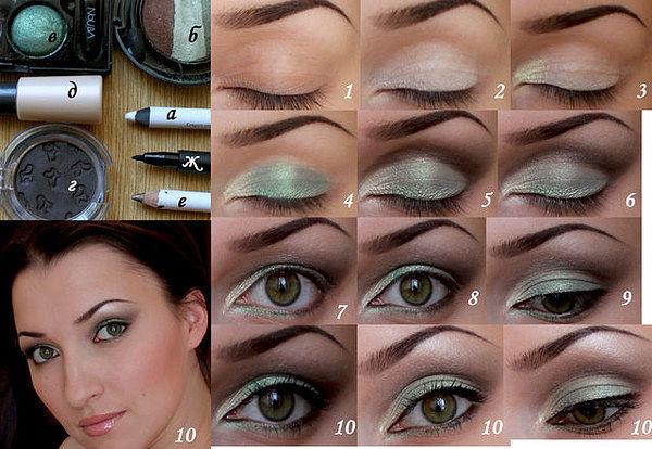 как красить глаза пошагово фото