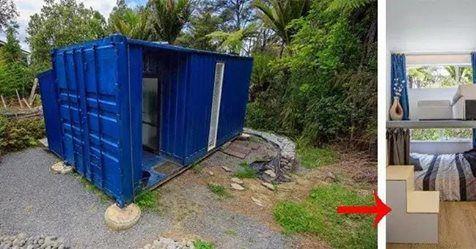 Эта женщина живет внутри грузового контейнера! Хотите посмотреть как он выглядит изнутри?