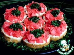 Бутерброды с имбирем Розовый фламинго Сыр плавленый
