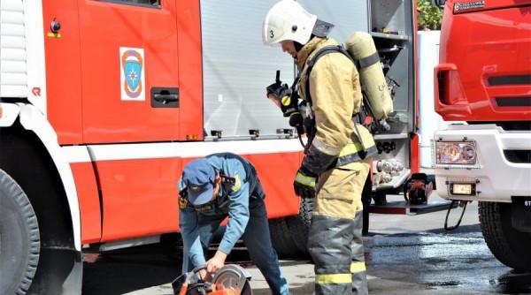Во время пожара в Симферопол…