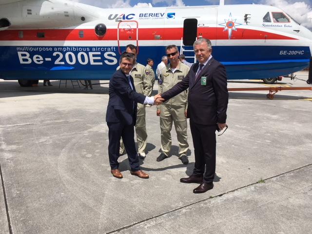 Демонстрация самолета-амфибии Бе-200ЧС во Франции  и участие в слете гидроавиации