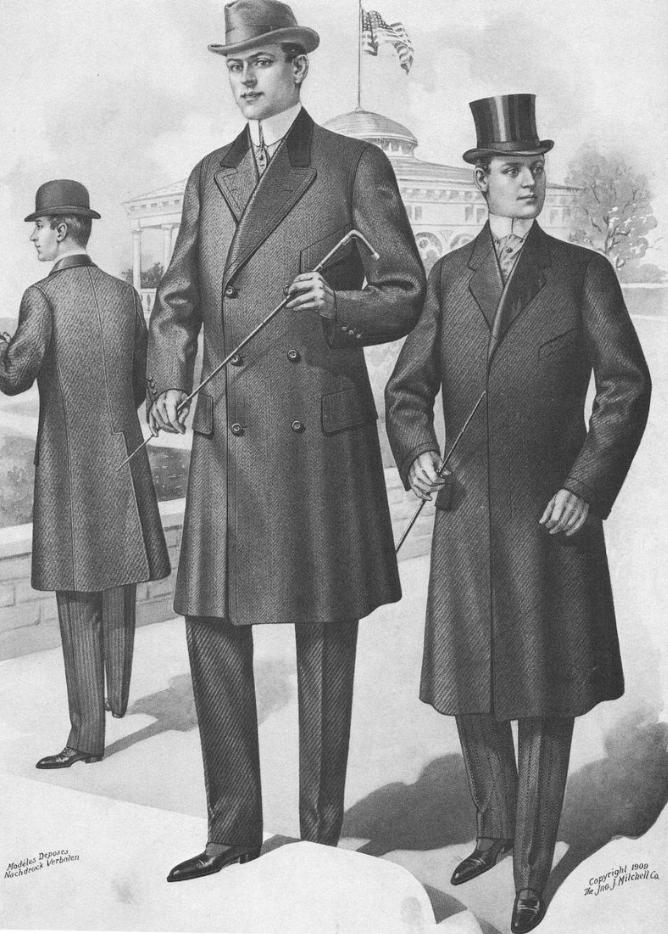 Пальто Честерфилд в начале 20-го века