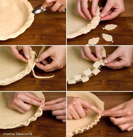 Как сделать красивый пирог из теста