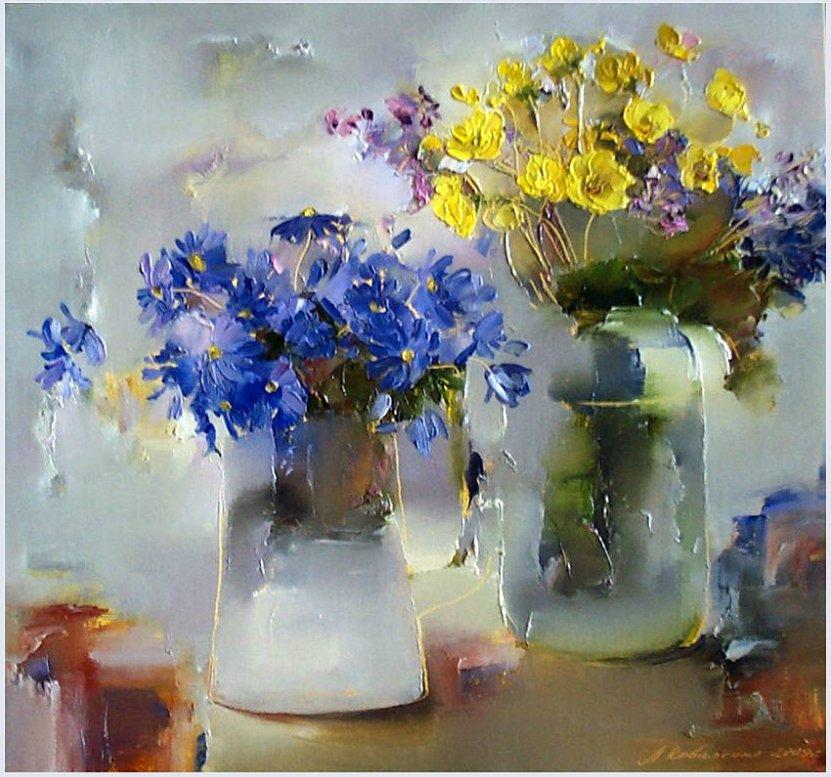 Цветов пленяет красота...Чистые и радостные краски натюрмортов Лины Коваленко